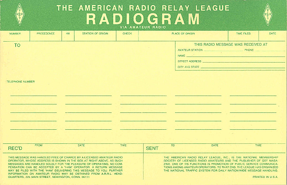 how to send a radiogram